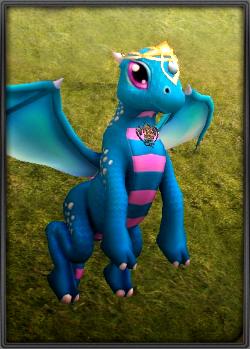 Kék bébi sárkány